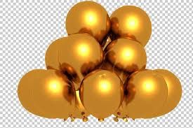 gold balloons golden balloons 3d render png graphics creative market