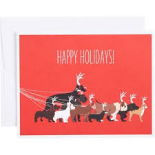 dogs as reindeer holiday cards paper source