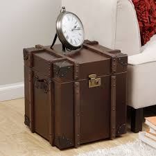 trunk style bedside tables furniture cool side table leather coffee storage trunk dressing