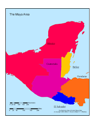 mayan empire map maps of the area