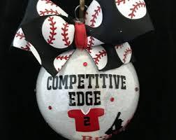 baseball ornament etsy