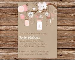 rustic bridal shower invitations jar invitation bridal shower baby shower jar