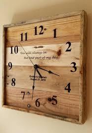 personalized wedding clocks reclaimed wood wall clock rossobianco me