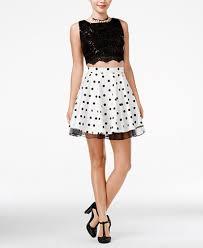 city studios juniors u0027 2 pc embellished lace a line dress