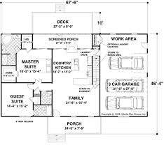Country Kitchen Floor Plans by Country Style House Plan 2 Beds 2 50 Baths 1500 Sq Ft Plan 56 621