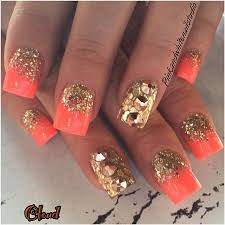 best 20 coral nails gold ideas on pinterest coral nails glitter