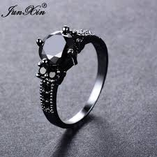 aliexpress buy junxin new arrival black aliexpress buy junxin big black zircon rings for