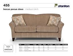 stanton sofas 455 series sofa loveseat chair mushroom ottoman