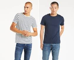 slim fit crewneck tees 2 pack dress blues and striped