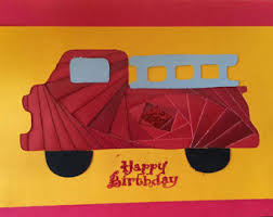 fire engine card etsy