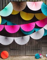 how to make paper fans paper fan bunting garlands by boase ltd notonthehighstreet