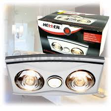 heller 3 in 1 high flow bathroom heater heat lamp fan u0026 light