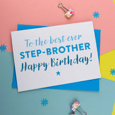 birthday card for step brother by a is for alphabet