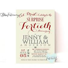 40th anniversary invitations 40th anniversary invitation 40th wedding anniversary invite
