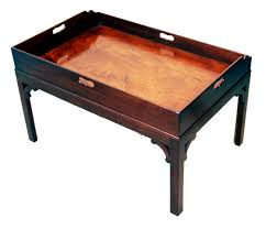 antique georgian mahogany butlers tray table c 1800 england