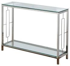 Black Console Table Modern Black Console Table Gulliver Glass Top Chrome Contemporary