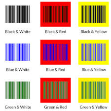 best color combos and worst colors for barcode labels