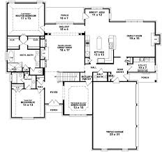 2 4 bedroom house plans 4 bedroom 3 bath house plans simple open ranch floor plans style