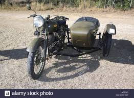first car ever made in the world old military bike used in the first and second world war stock