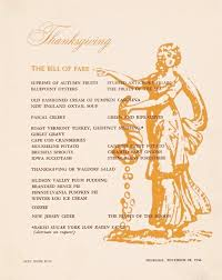 thanksgiving dinner at the waldorf astoria 1956 ephemeral new york