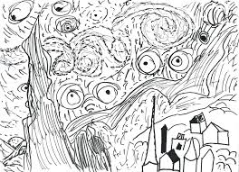 coloring page for van starry night coloring page ribsvigyapan com starry night coloring
