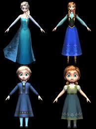 frozen characters 3d model renders sabi996 deviantart