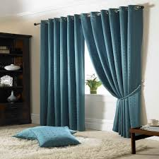 Lined Curtains Madison Lined Eyelet Ring Top Curtains Teal 66x54 Amazon Co Uk