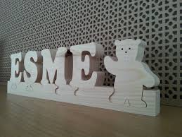 Baby Plaques Solid Wood Personalised Newborn Gift Baby Name Plaque Jigsaw