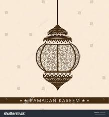 Designs For Invitation Card Beautiful Hanging Arabic Lamp Lantern Greeting Stock Vector