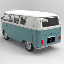 volkswagen bulli 1950 volkswagen combi studio max 3d cgtrader