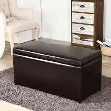 leather tray top ottoman contemporary brown 3 piece leather tray top nested storage ottoman