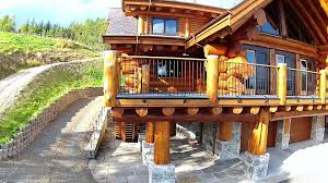 pioneer log homes of bc full log home youtube
