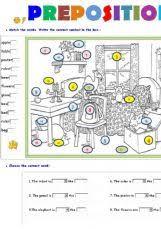 english exercises prepositions