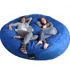 amazon com 8 feet round royal blue xxxl foam bean bag chair