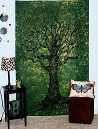 amazon com your spirit space tm green tree of life tapestry