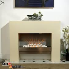 electric fire fireplace free standing creme heater inset