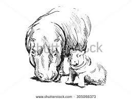 baby elephant playing football sketch free stock illustration