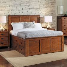 Platform Bed Drawers Mission Wood Captain Platform Bed In Harvest Humble Abode