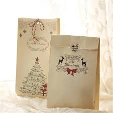 christmas paper bags 8pcs set kraft paper bag merry christmas gift bags party lolly