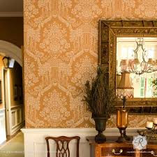 royal home decor designer wallpaper wall stencils for painting trendy home decor