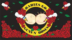 Guns And Roses - babies go guns n roses album guns n roses para bebés