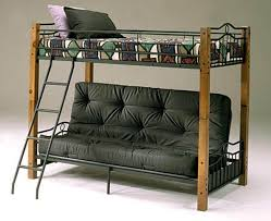 Futon Bunk Bed With Mattress Twin Over Futon Bunk Bed Wood U2014 Modern Storage Twin Bed Design