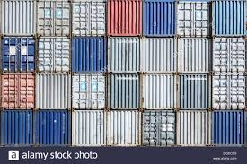 trading pattern shipping stacked shipping containers for trading goods around the world on