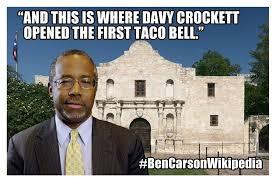 Ben Carson Meme - ben carson who can t stop lying gets the perfect alamo meme