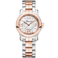 gold ladies bracelet watches images Chopard happy sport 30mm steel 18ct rose gold ladies bracelet watch jpg