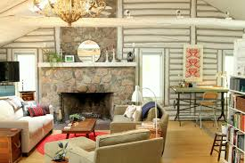 Log Home Decorating Log Cabin Decorating Ideas Bathroom Traditional With None