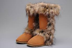 ugg sale boots outlet ugg fox fur boots 5815 chestnut for sale 114 00