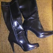 s boots nine 60 nine shoes black made leather boots nine