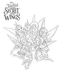 kleurplaat tinkelbel secret wings tinkerbell secret