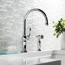 kitchen faucets wall mount kitchen faucet with kohler purist